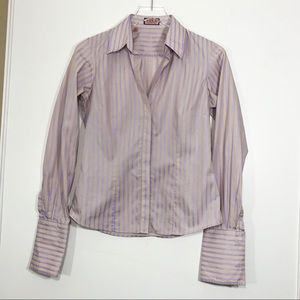 [Thomas Pink] Button DownStriped Career Blouse